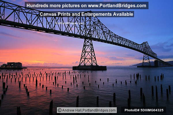 Astoria-Megler Bridge, Sunset