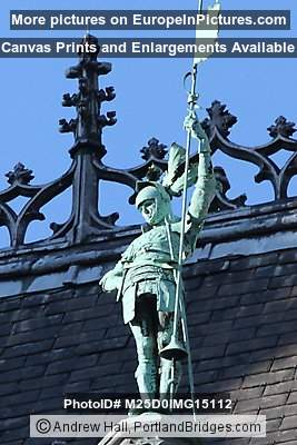 Statue on King's House, Grand Place, Brussels