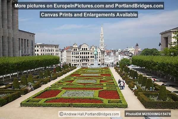 Mont des Arts (Garden), Brussels, Belgium