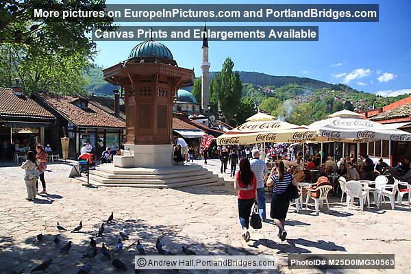Baščaršija, Sebilj Fountain, Sarajevo