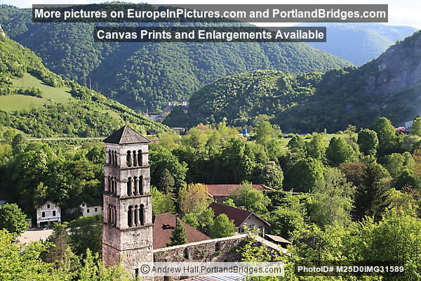 View of St. Mary's Church from Jajce Fortress