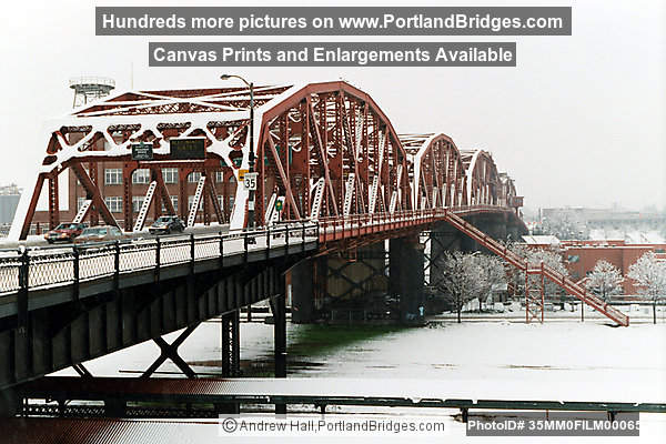 Broadway Bridge in the Snow (Portland, Oregon)