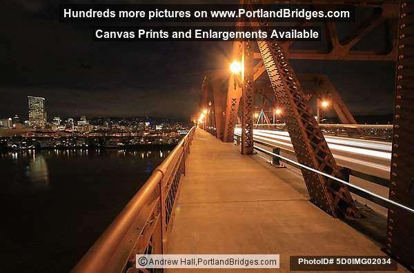 Broadway Bridge, On Bridge, Dusk (Portland, Oregon)