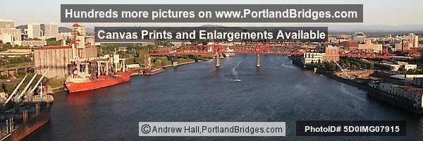 Portland Broadway Bridge from Fremont Bridge, Panorama