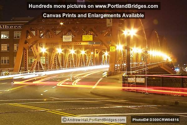 Portland Broadway Bridge, Dusk