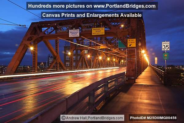 Broadway Bridge, Car Lights, Dusk (Portland, Oregon)