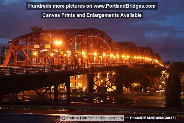 Broadway Bridge, Dusk (Portland, Oregon)