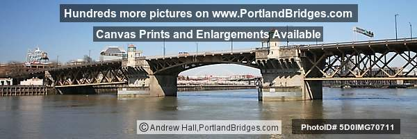 Burnside Bridge, Panoramic, Portland, Oregon Sign