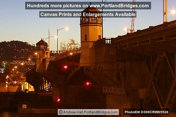 Burnside Bridge, 2002, Dusk (Portland, Oregon)