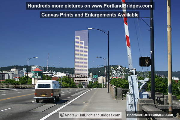 Looking West into Downtown Portland, from Burnside Bridge
