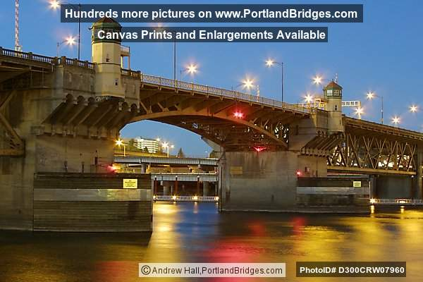 Burnside Bridge, Dusk (Portland, Oregon)