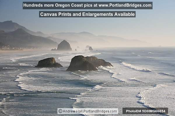 Cannon Beach, Rocks, from Ecola State Park