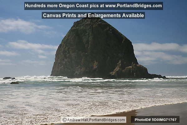 Haystack Rock from Cannon Beach