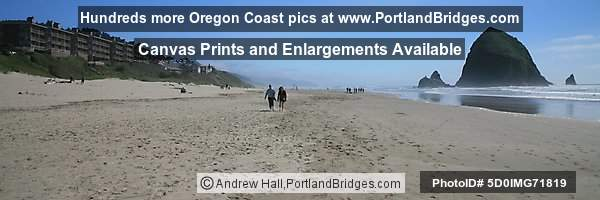 Haystack Rock, Cannon Beach, Panoramic