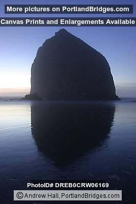 Cannon Beach Haystack Rock, Dusk