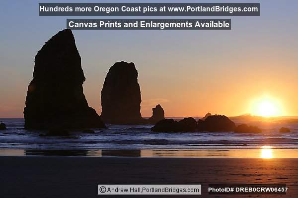Cannon Beach, Sunset, Oregon Coast