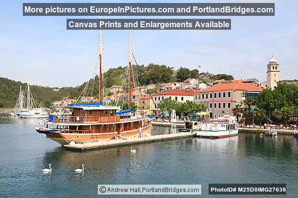 Skradin, Croatia, Waterfront, Boat
