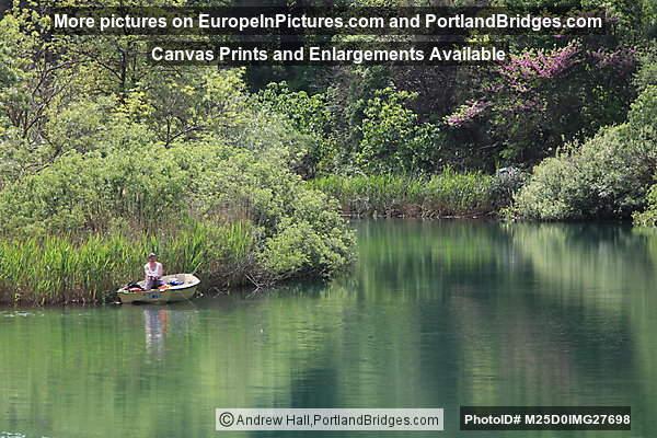 Fisherman on boat, Krka National Park