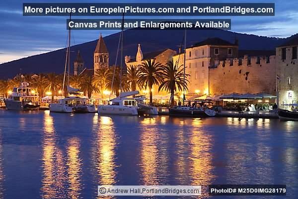 Trogir, Croatia, Waterfront at Night