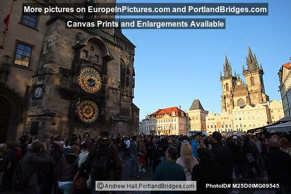 Prague Old town Square, Astronomical Clock, Tyn Church