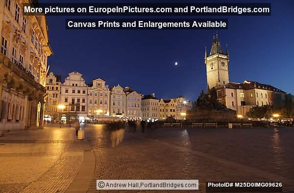 Old Town Square, Town Hall, Dusk, Prague