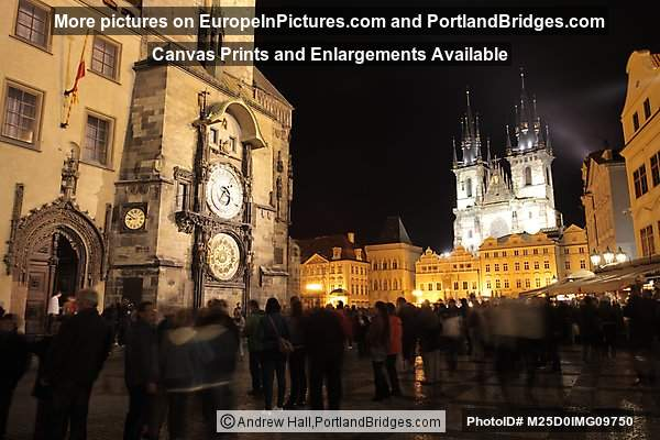 Old Town Square, Astronomical Clock, Night, Prague