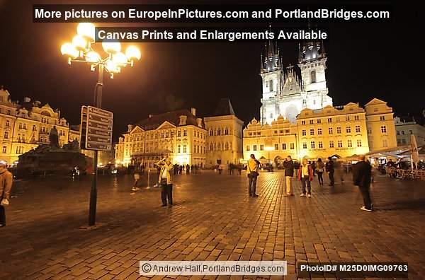 Old Town Square, Night, Prague