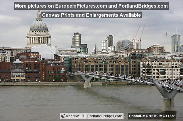 London Millenium Bridge and St. Peter's