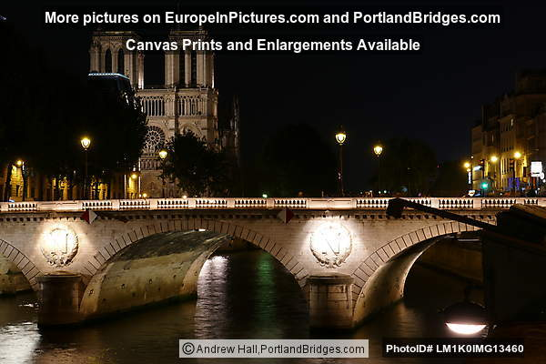 Pont au Change, Notre-Dame, Night