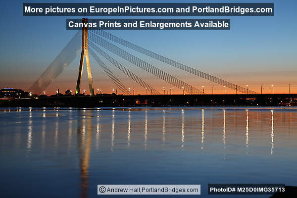 Vanšu Bridge, Sunset, Riga, Latvia