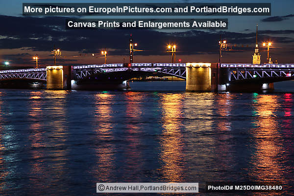 Palace Bridge, Night, St. Petersburg