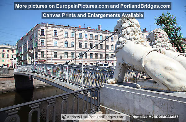 Lion Bridge, St. Petersburg, Russia