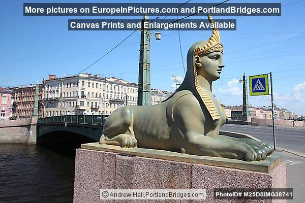 Egyptian Bridge, Fontanka River, St. Petersburg
