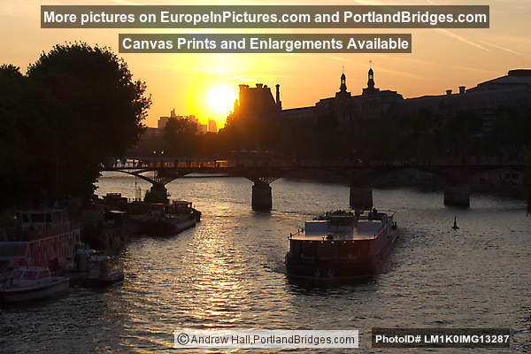 Seine, Paris, Sunset