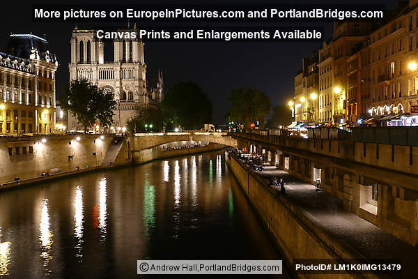 Notre-Dame, Seine, Night, Paris