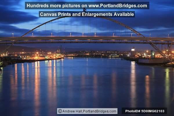 Fremont Bridge, Dusk (Portland, Oregon)