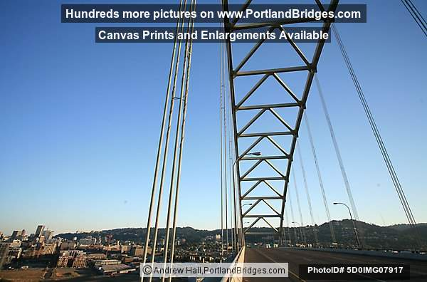 Fremont Bridge, Looking Up, Pearl District (Portland, Oregon)