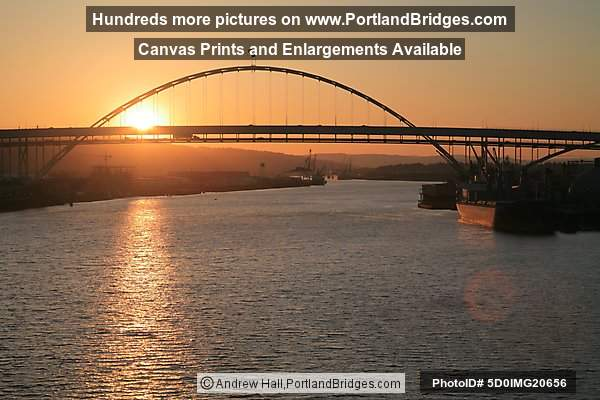 Fremont Bridge at Sunset (Portland, Oregon)