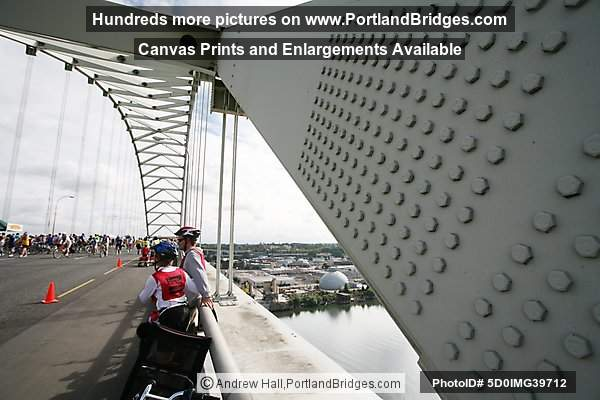 Fremont Bridge, Bridge Pedal 2008, Wide Angle