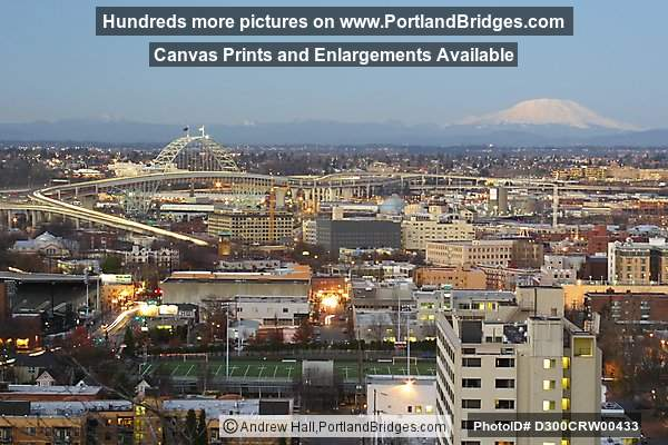 Fremont Bridge and Mt. St. Helens