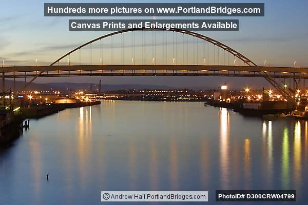 Fremont Bridge, Winter, Dusk