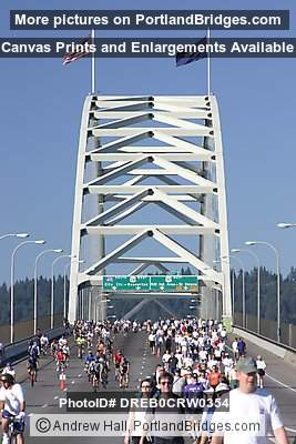 Runners Approaching Fremont Bridge, Bridge Pedal, 2004 (Portland, Oregon)