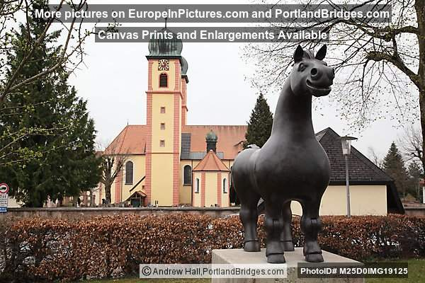 St. Märgen Abbey, Horse Statue, Black Forest