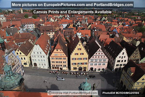 Market Square, View from Town Hall Tower, Rothenburg
