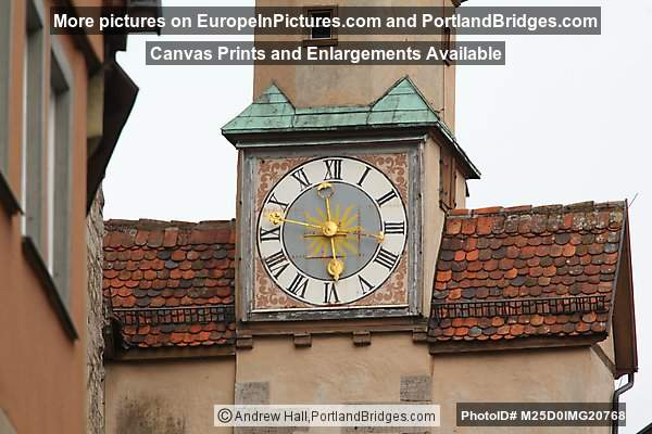 Marcus Tower Clock, Rothenburg ob der Tauber