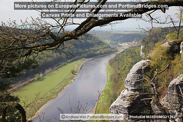 Elbe River view from Saxon Switzerland National Park