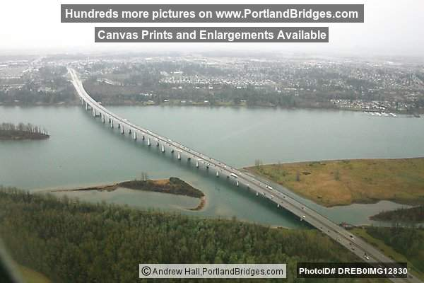 Glenn Jackson Bridge from the Air (Portland, Oregon)