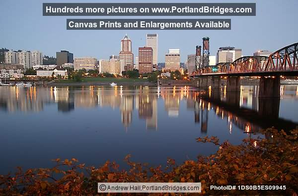 Portland Cityscape, Willamette River, Reflection, Daybreak