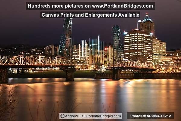 Hawthorne Bridge Being Raised, Long Exposure (Portland, Oregon)