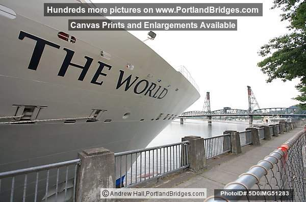 The World Cruise Ship, Docked, Portland, Oregon, June 2009